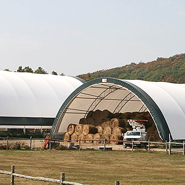 Storage tents for hay bales